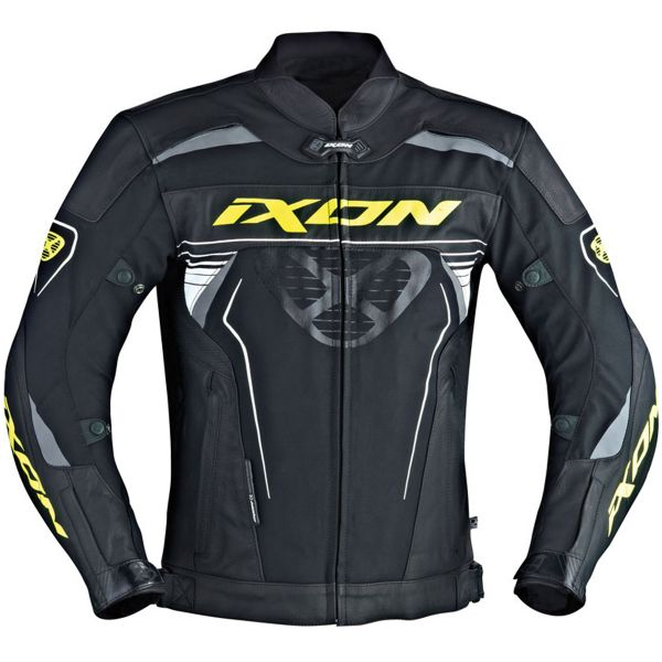 Blouson Moto Ixon Frantic Black White Yellow