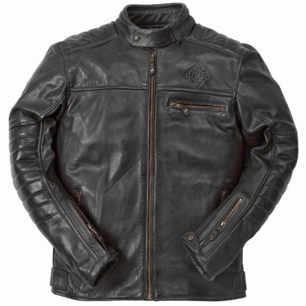 Blouson Moto Ride & Sons Getaway Cow Skin Black