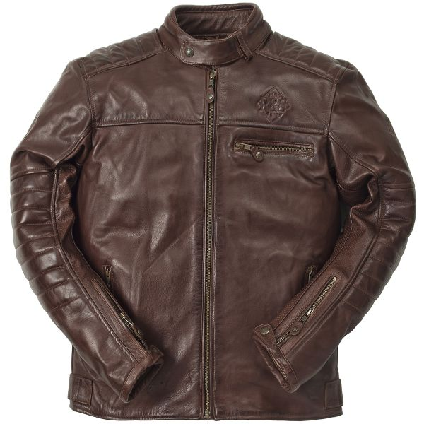Blouson Moto Ride & Sons Getaway Cow Skin Brown