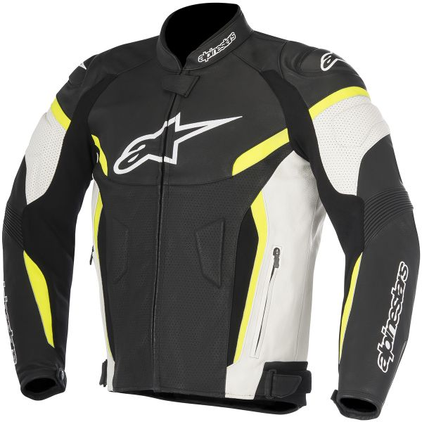 Blouson Moto Alpinestars GP Plus R V2 Airflow Black White Yellow Fluo