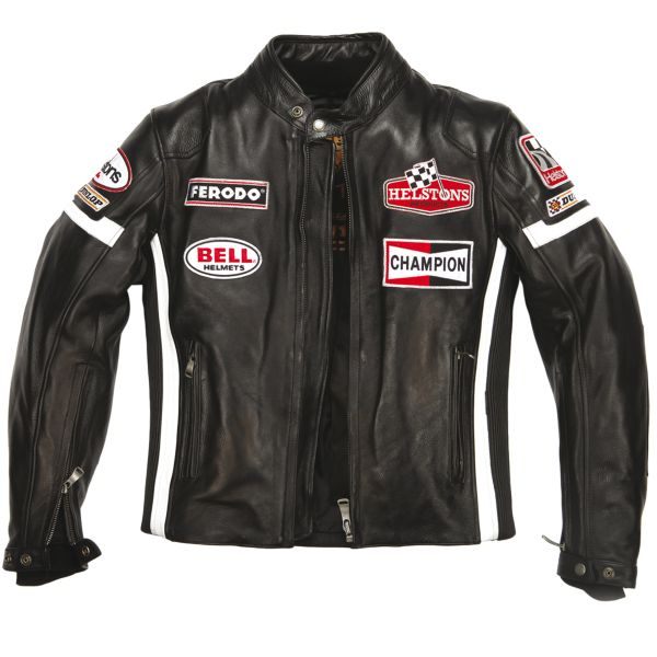 Blouson Moto Helstons GT Seven Leather Black