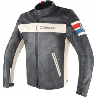 Blouson Moto Dainese HF D1 Black Ice Red Blue