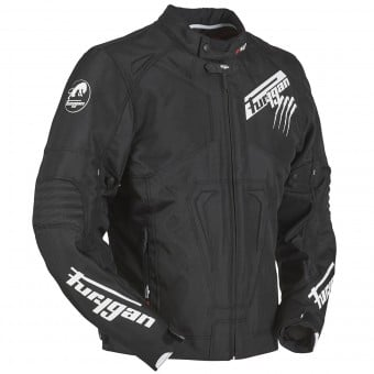 Blouson Moto Furygan Hurricane Black White