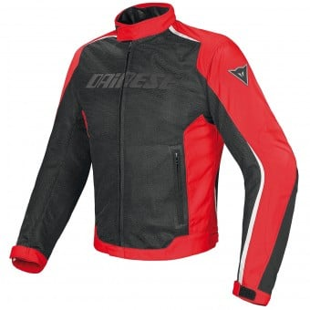 Blouson Moto Dainese Hydra Flux D-Dry Black Red White