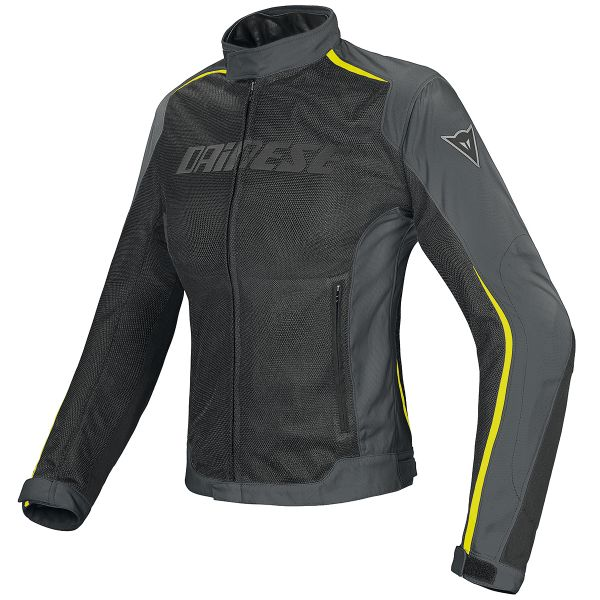 Blouson Moto Dainese Hydra Flux D-Dry Lady Black Gray Yellow Fluo