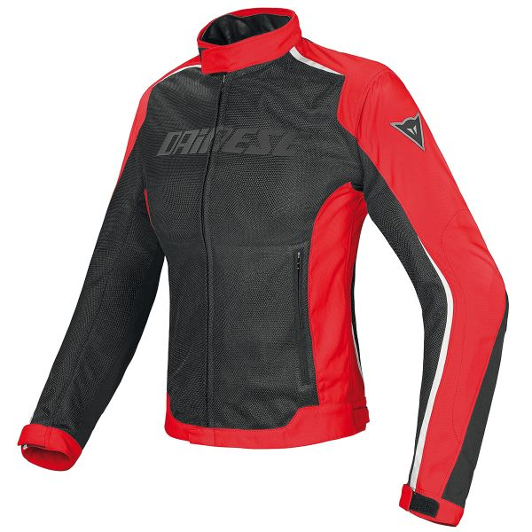 Blouson Moto Dainese Hydra Flux D-Dry Lady Black Red White