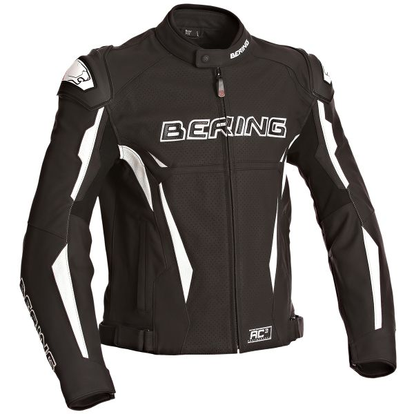 Blouson Moto Bering Kingston Evo-R Black White