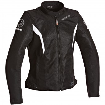 Blouson Moto Bering Lady Florida Black White