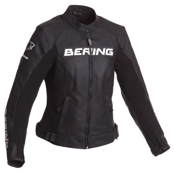 Blouson Moto Bering Lady Sawyer Black White