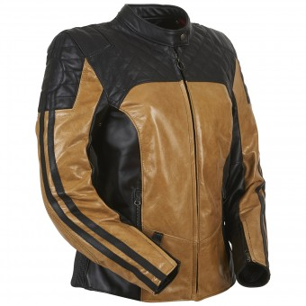 Blouson Moto Furygan Legend Lady Black Honey