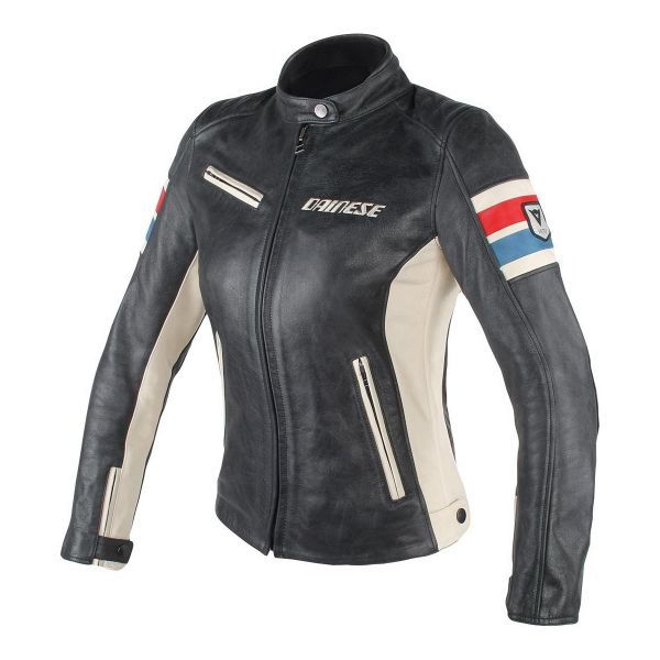 Blouson Moto Dainese Lola D1 Lady Black Ice Red Blue