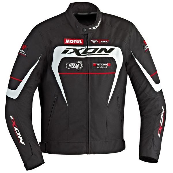 Blouson Moto Ixon Matrix Black White Red
