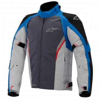 Blouson Moto Alpinestars Megaton Drystar Black Blue Gray Red