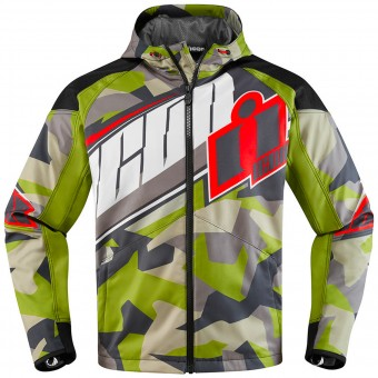 Blouson Moto ICON Merc Deployed Green
