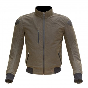 Blouson Moto Merlin Weston Olive Green