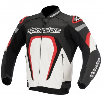 Blouson Moto Alpinestars Motegi Black White Red