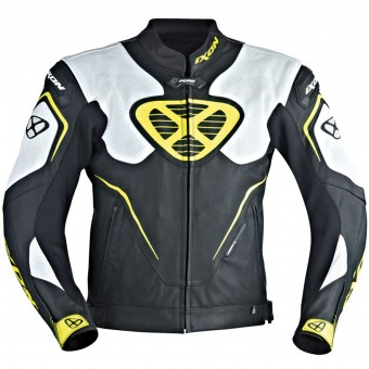 Blouson Moto Ixon Orcus Black White Yellow