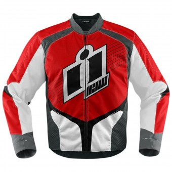 Blouson Moto ICON Overlord D3O Red