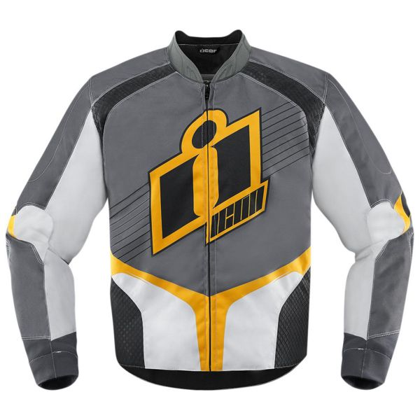 Blouson Moto ICON Overlord D3O Yellow