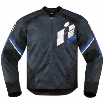 Blouson Moto ICON Overlord Primary Blue