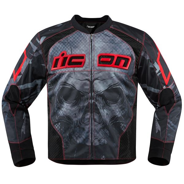 Blouson Moto ICON Overlord Reaver Red