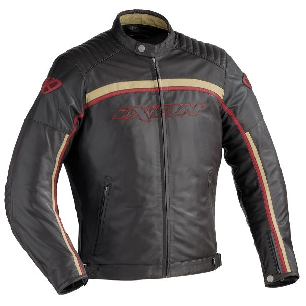 Blouson Moto Ixon Piston Marron