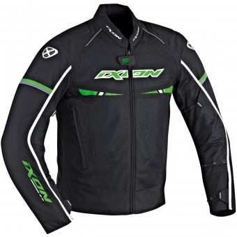 Blouson Moto Ixon Pitrace Black White Green