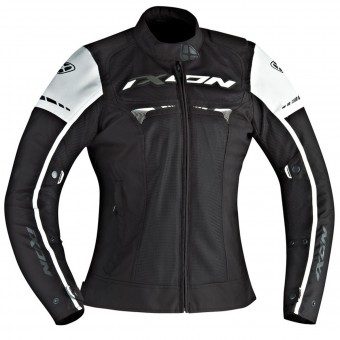 Blouson Moto Ixon Pitrace Lady Black White