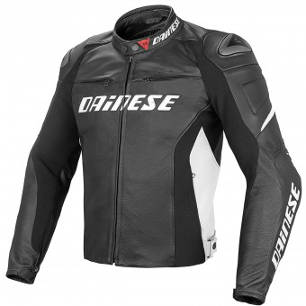 Blouson Moto Dainese Racing D1 Black White