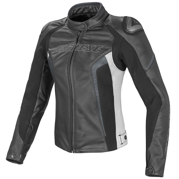 Blouson Moto Dainese Racing D1 Lady Black White Anthracite