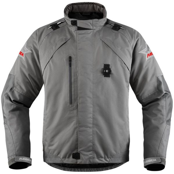 Blouson Moto ICON Raiden DKR Monochromatic Grey