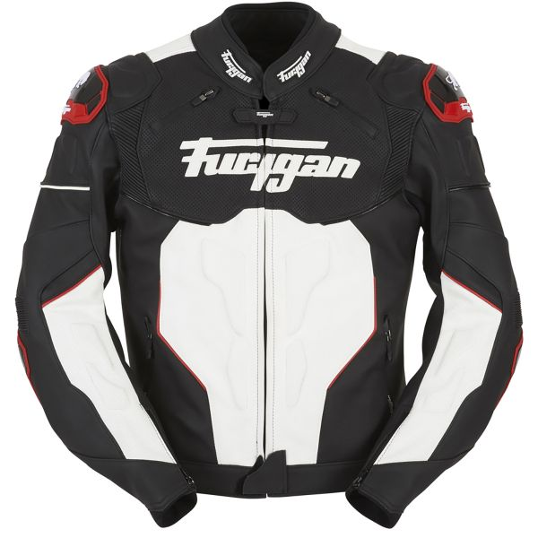 Blouson Moto Furygan Raptor Black White Red