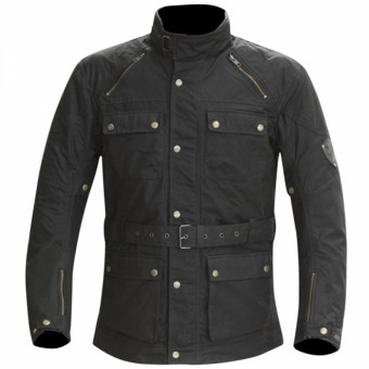 Blouson Moto Merlin Rowan Wax Black