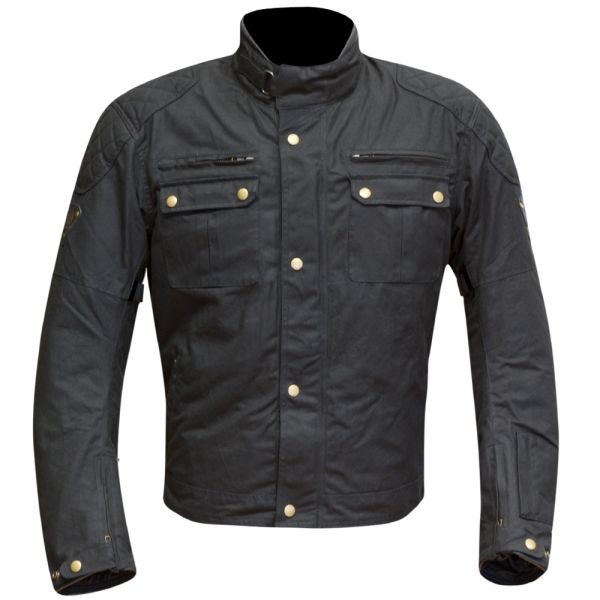 Blouson Moto Merlin Sandon Wax Black