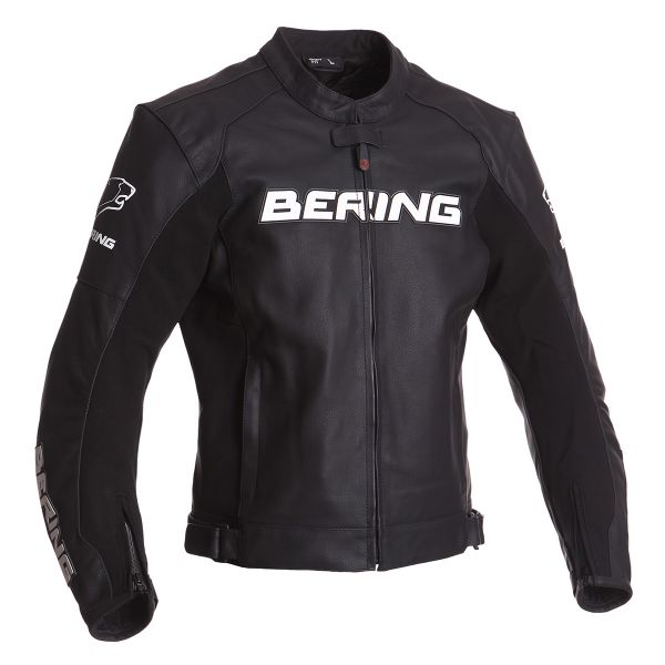 Blouson Moto Bering Sawyer Black White