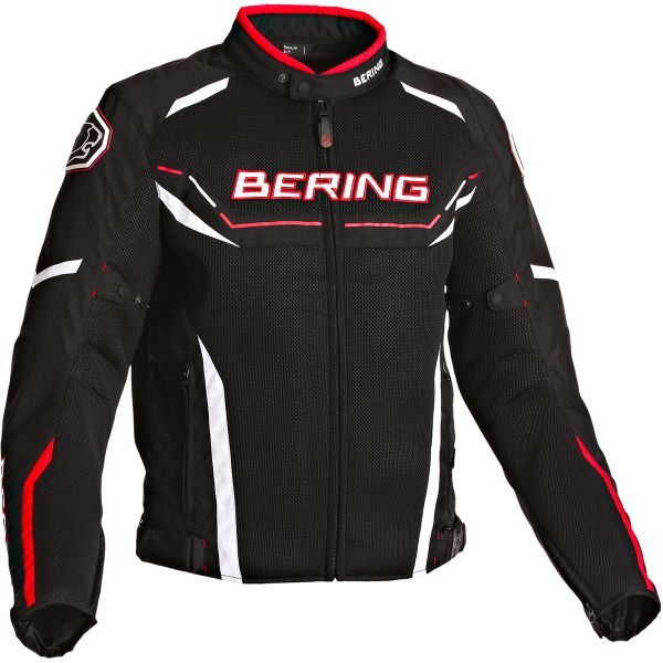 Blouson Moto Bering Scream Black White Red