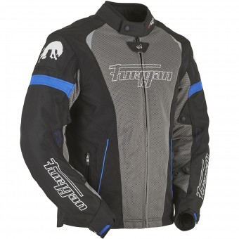 Blouson Moto Furygan Spark 2W in 1 Black Taupe Blue