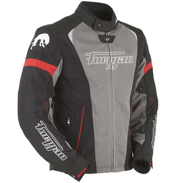 Blouson Moto Furygan Spark 2W in 1 Black Taupe Red