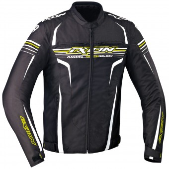 Blouson Moto Ixon Striver Black White Yellow