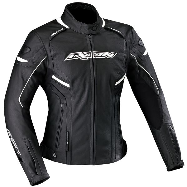 Blouson Moto Ixon Stunter Lady Black White