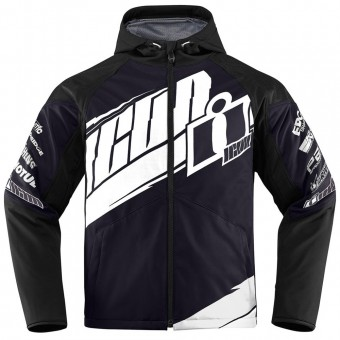Blouson Moto ICON Team Merc Black