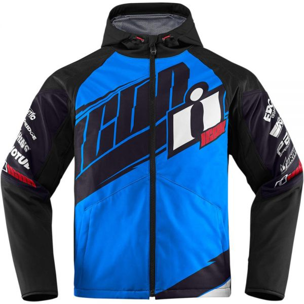 Blouson Moto ICON Team Merc Light Blue