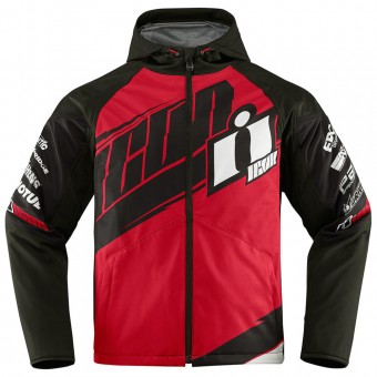 Blouson Moto ICON Team Merc Red