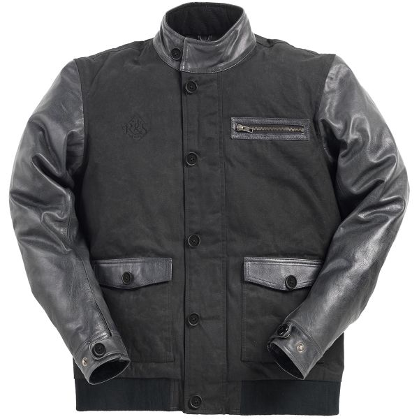 Blouson Moto Ride & Sons Varsity Black Charcoal