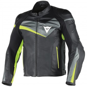Blouson Moto Dainese Veloster Black Anthracite Yellow Fluo