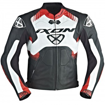 Blouson Moto Ixon Voltage Black White Red