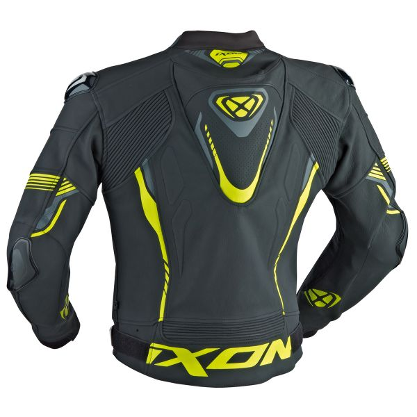 Blouson Moto Ixon Vortex Jacket Black Grey Yellow
