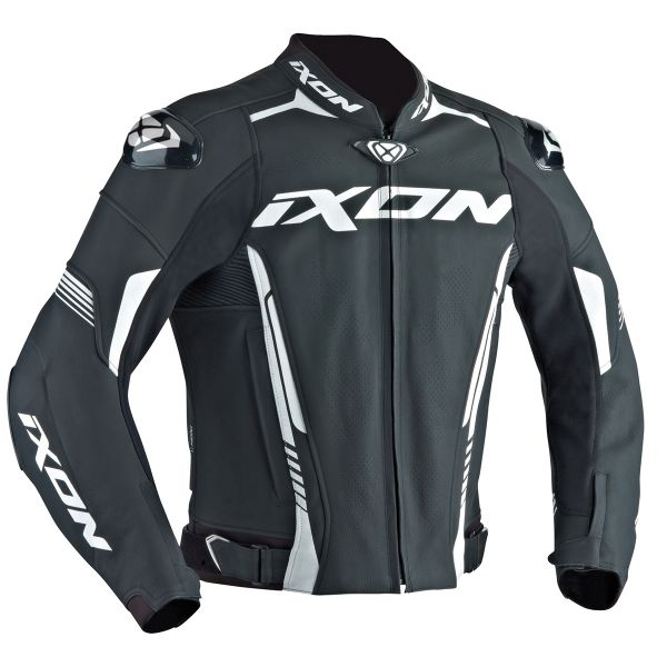 Blouson Moto Ixon Vortex Jacket Black White