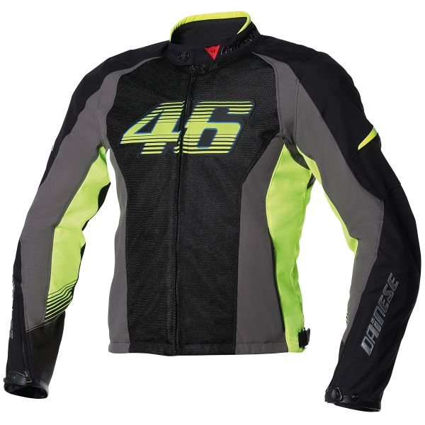 Blouson Moto Dainese VR46 Air Black Yellow fluo