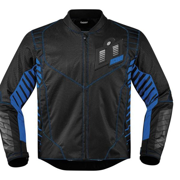 Blouson Moto ICON Wireform Blue